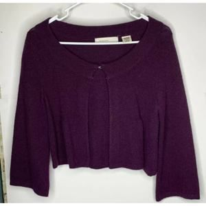 Sleeping On Snow Womens Crop S Purple Angora Blend